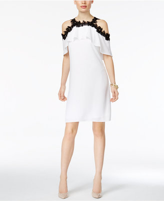 Thalia Sodi Crochet-Trim Cold-Shoulder Dress, Only at Macy's $109.50 thestylecure.com