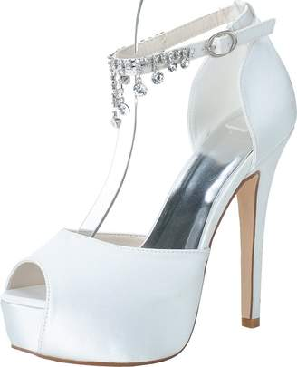 e664ba6a0 Salabobo 3128-21 Womens Comfort Platform Bride Bridesmaid Party Prom Wedding  Dress Work Peep Toe