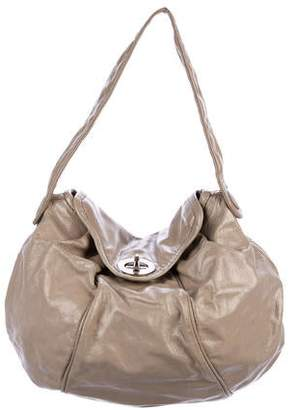 Marc by Marc Jacobs Patent Leather Turn-Lock Hobo