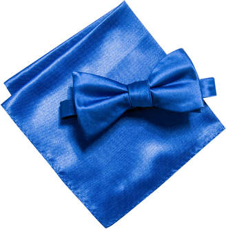 Alfani Men Satin Solid Bow Tie & Pocket Square Set