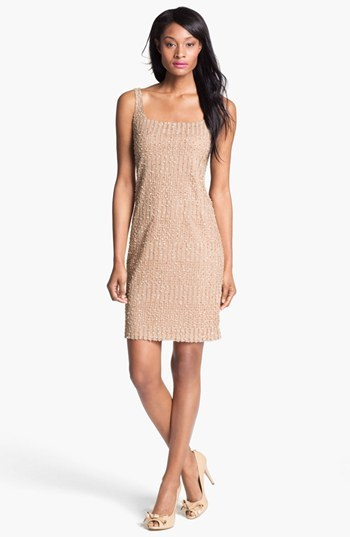 Isaac Mizrahi New York Embellished Sleeveless Mesh Dress