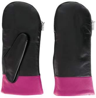 Kenzo contrast trim fingerless gloves