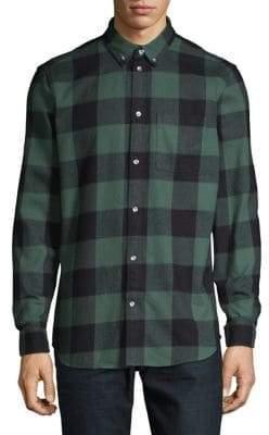 Wesc Olavi Plaid Long Sleeve Sport Shirt