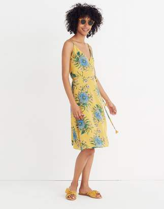 Madewell Silk Wrap Dress in Painted Blooms