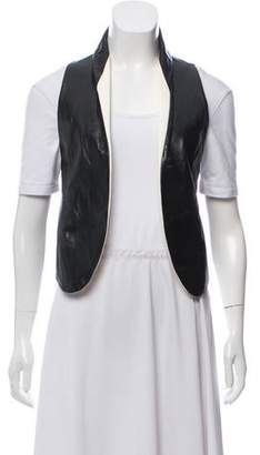 Theyskens' Theory Leather Crop Vest