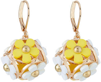 Emily and Ashley Greenbeads By Flower Dangle Earrings, Yellow/White