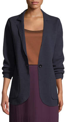 Eileen Fisher Washable Wool Crepe Blazer Jacket, Plus Size