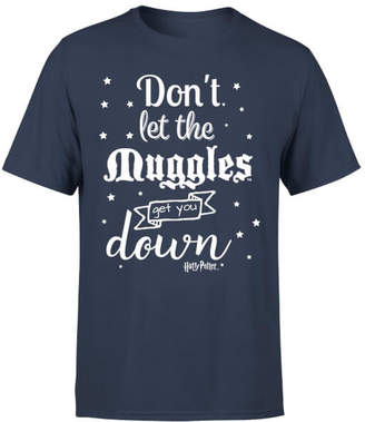 Harry Potter Don't Let The Muggles Get You Down Men's T-Shirt - Navy