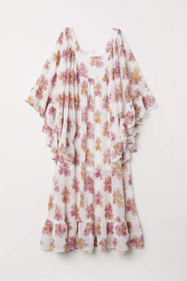 H&M Maxi Dress with Flounces - White