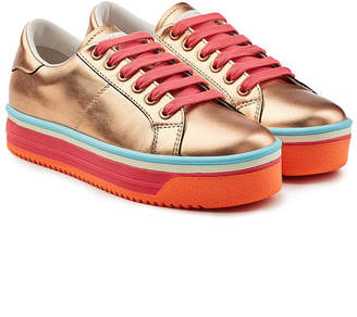 Marc Jacobs Empire Platform Leather Sneakers