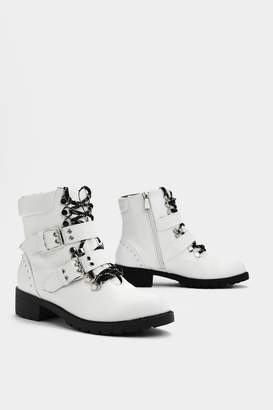 Nasty Gal Think On Your Feet Faux Leather Boot