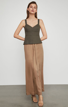 BCBGMAXAZRIA Paperbag Waist Long Skirt