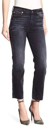 7 For All Mankind Edie Raw Hem Cropped Jeans