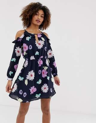 Pepe Jeans Asun floral print cold shoulder dress