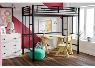 LOFT Your Zone YourZone Metal Twin Bed with Mattress, Multiple Colors