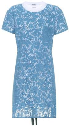 Miu Miu Cotton lace T-shirt dress