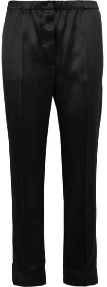Prada - Satin Straight-leg Pants - Black