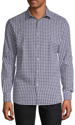 AXIST Axist Long Sleeve Checked Button-Front Shirt