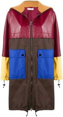 Marni colour-block midi coat