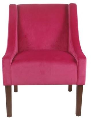 HomePop Modern Velvet Swoop Arm Accent Chair, Multiple Colors