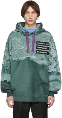 Acne Studios Green Printed Dye Hoodie