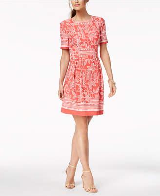 Jessica Howard Petite Puff-Print Dress