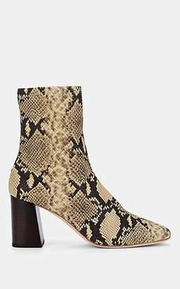 Loeffler Randall Women's Elise Snakeskin-Stamped Leather Ankle Boots - Sand