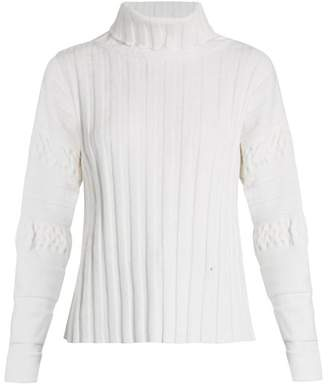 Esteban Cortazar Ribbed-knit velvet sweater