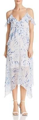 BCBGMAXAZRIA Lissa Printed Handkerchief-Hem Slip Dress - 100% Exclusive