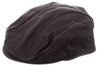 491b549afa6ce CNC Costume National Leather Newsboy Hat