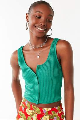 Urban Outfitters Button-Down Cropped Tank Top