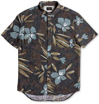Quiksilver Men's Printed Floral Linen Shirt