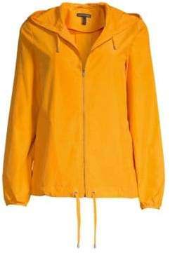 Eileen Fisher Women's Hooded Anorak - Mango - Size XS
