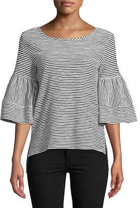 Jones New York Bell-Sleeve Striped Top