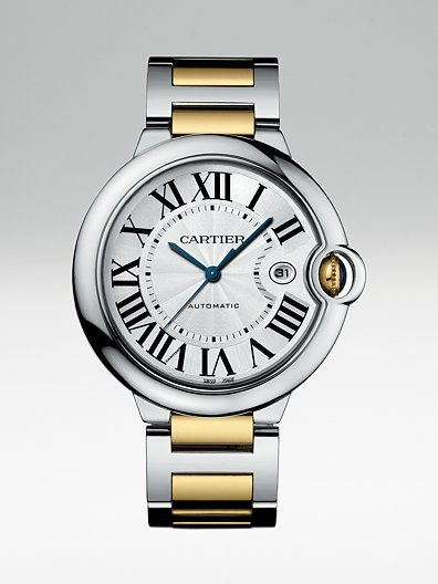 Cartier Ballon Bleu Steel and Yellow Gold Bracelet Watch, Large