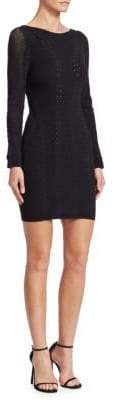 Rag & Bone Knit Long-Sleeve Mini Dress