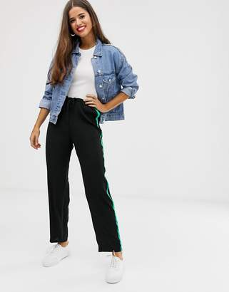 Brave Soul band pants with side stripe
