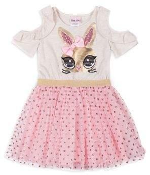 Little Lass Little Girl's Cold-Shoulder Dress