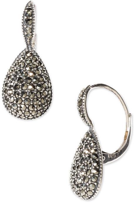 Judith Jack Pear Drop Earrings