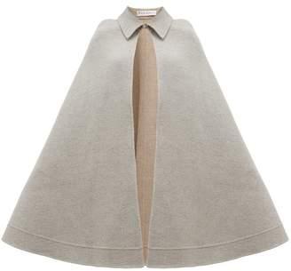J.W.Anderson Wool Blend Cape - Womens - Light Grey