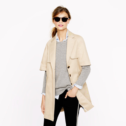 J.Crew Collection cape trench