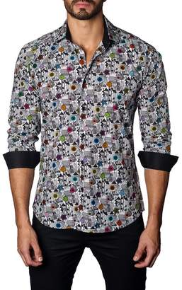 Jared Lang Printed Trim Fit Shirt