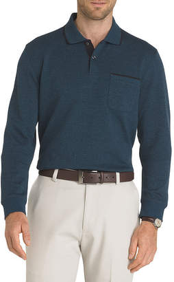 Van Heusen Flex Long Sleeve Polo Knit