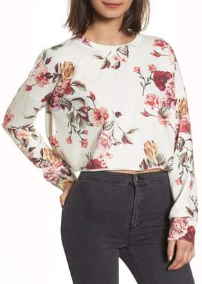 BP Floral Print Crop Sweatshirt
