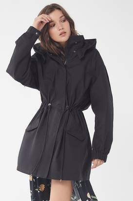 Urban Outfitters Hooded Longline Parka Coat
