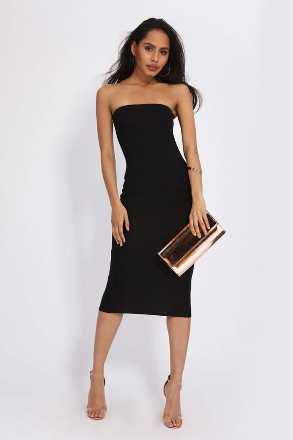 Isawitfirst Jersey Bandeau Midi Dress