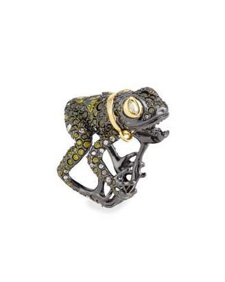 Alexis Bittar Crystal-Encrusted Frog Ring $325 thestylecure.com