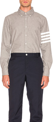 Thom Browne 4 Bar Chambray Shirt in Medium Grey | FWRD