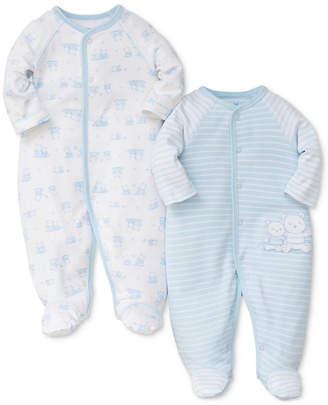 Little Me 2-Pk. Bears Cotton Coveralls, Baby Boys