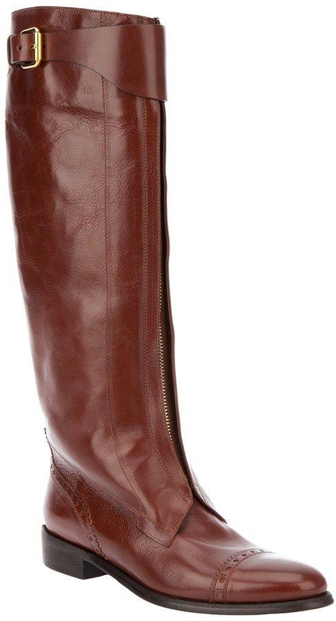 Burberry zipped riding boot